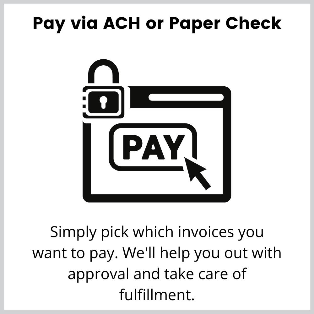 Pay vendors via ach or paper check