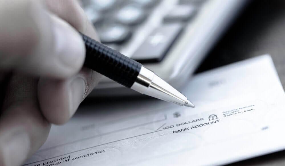 writing a check to a vendor
